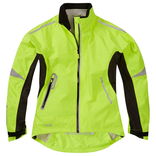 Madison Stellar women's waterproof jacket, hi-viz yellow | VeloVixen
