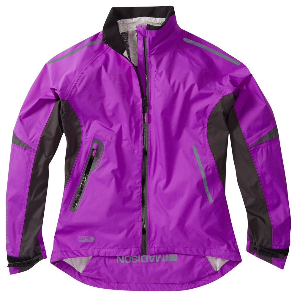 Madison Stellar women's waterproof jacket, purple cactus | VeloVixen