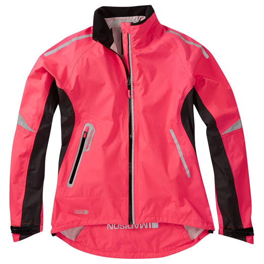 Madison Stellar women's waterproof jacket, diva pink | VeloVixen
