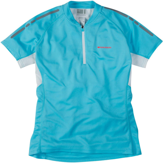 Madison Stellar women's short sleeve jersey, blue fish | VeloVixen