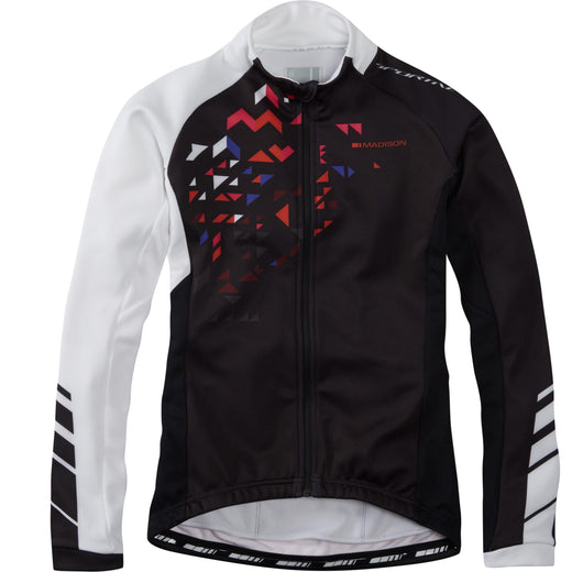 Madison Sportive women's long sleeve thermal roubaix jersey, black / white | VeloVixen