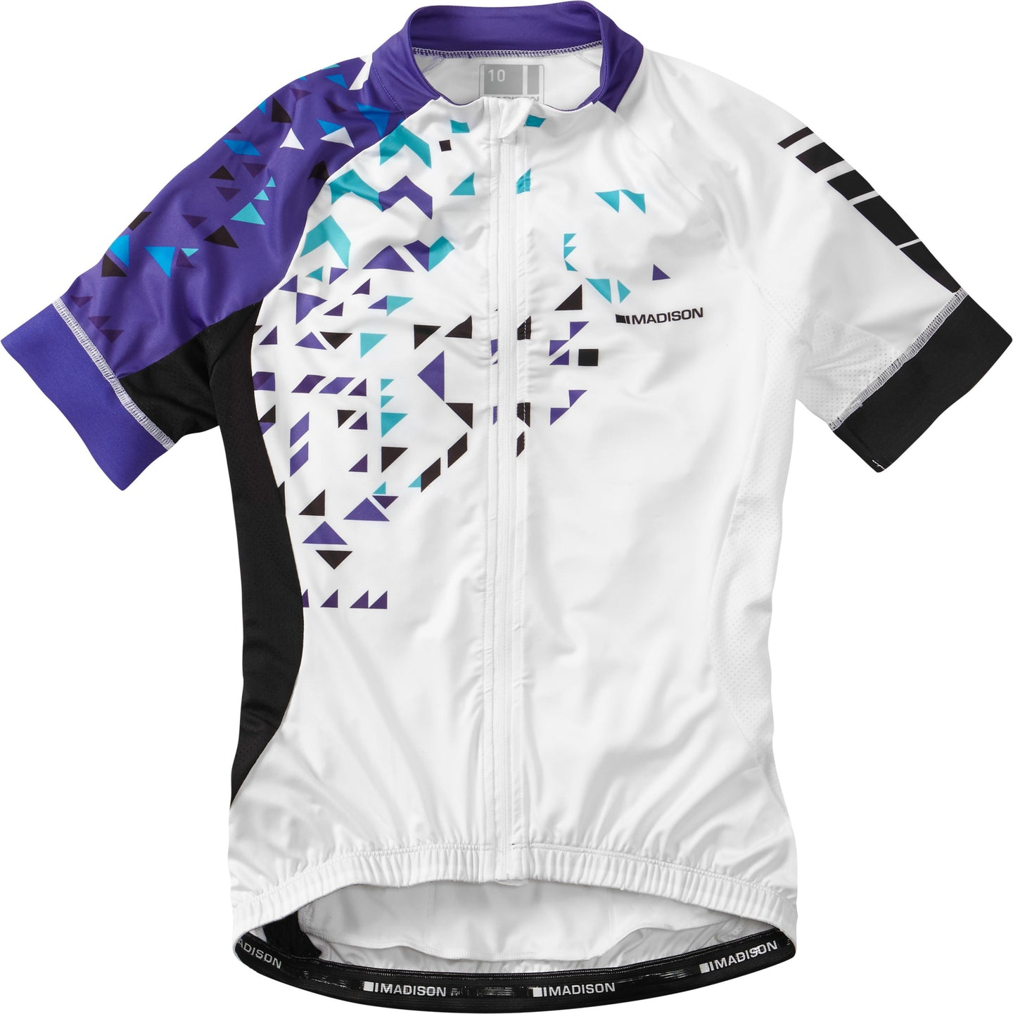 Madison Sportive women's short sleeve jersey, white / purple reign | VeloVixen