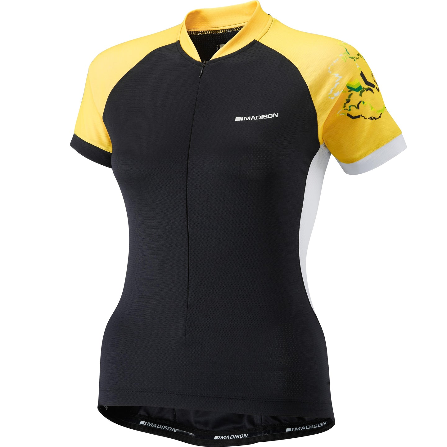 Madison Keirin women's short sleeve jersey, black / vibrant yellow | VeloVixen