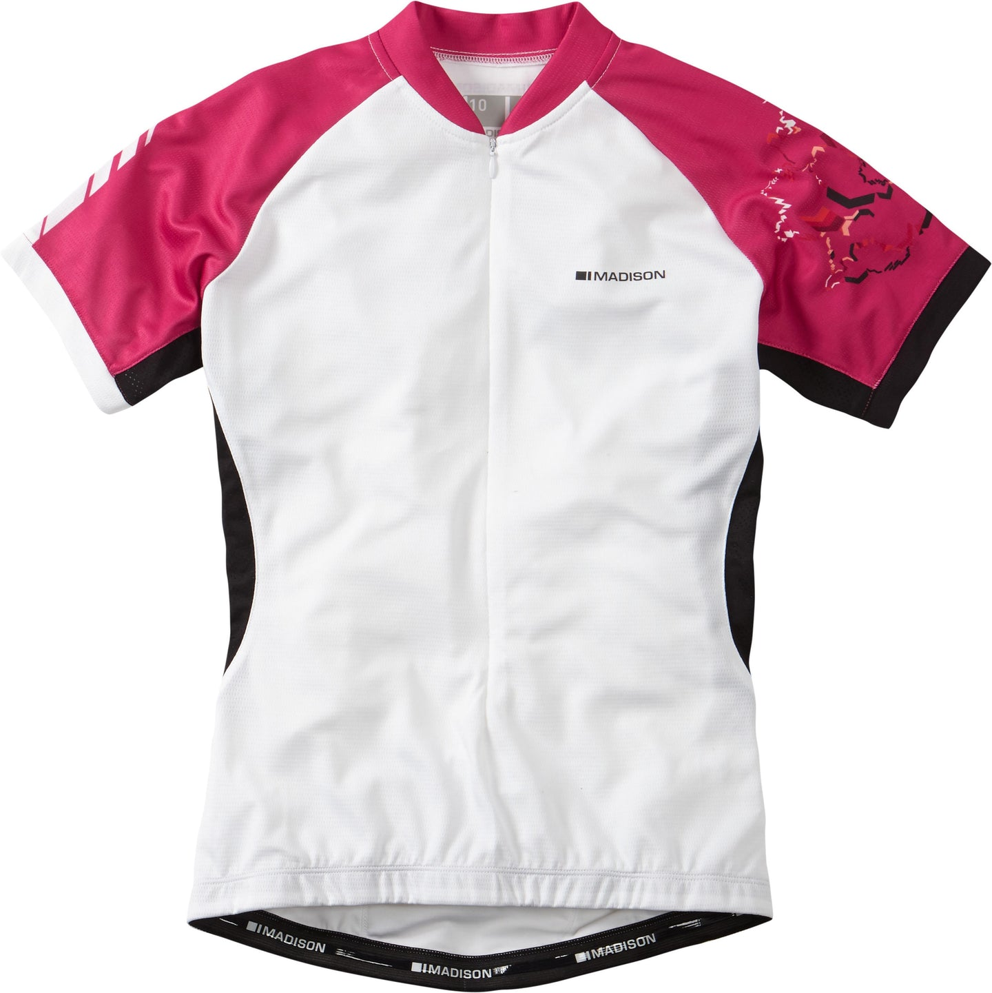 Madison Keirin women's short sleeve jersey, white / very berry | VeloVixen