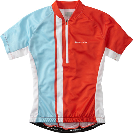 Madison Tour women's short sleeve jersey, chilli red / sea blue | VeloVixen
