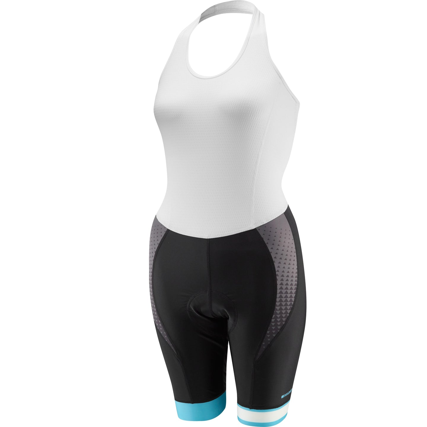 Madison Sportive Race halter neck women's bib shorts, black / dark iris | VeloVixen