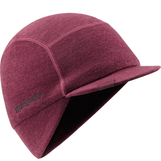 Madison Isoler Merino winter cap, classy burgundy | VeloVixen