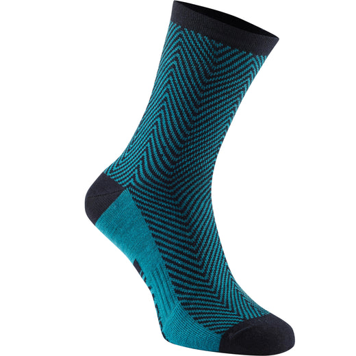 Madison Assynt merino long sock, bay blue herringbone | VeloVixen