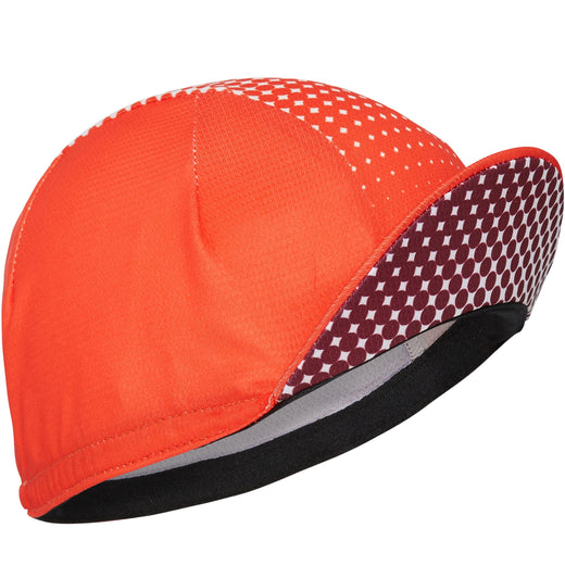 Madison RoadRace Premio cap, dot fade classy burgundy / chilli red | VeloVixen