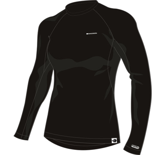 Madison Isoler Merino women's long sleeve baselayer, black | VeloVixen