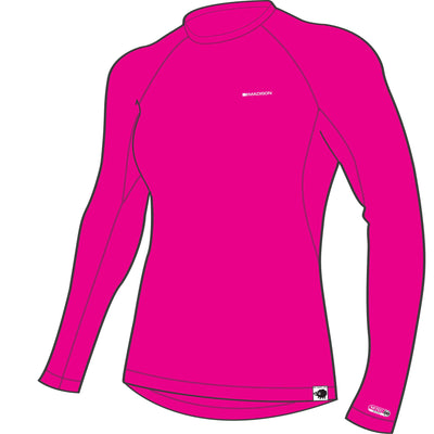 Madison Isoler Merino Long Sleeve Baselayer - Rose Red
