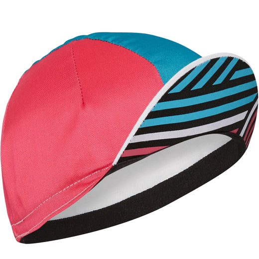 Madison Sportive poly cotton cap, crosshatch white / blue curaco | VeloVixen