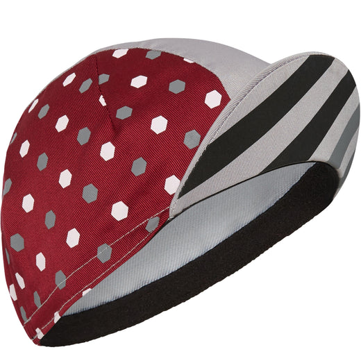 Madison Sportive poly cotton cap, hex dots classy burgundy / cloud grey | VeloVixen