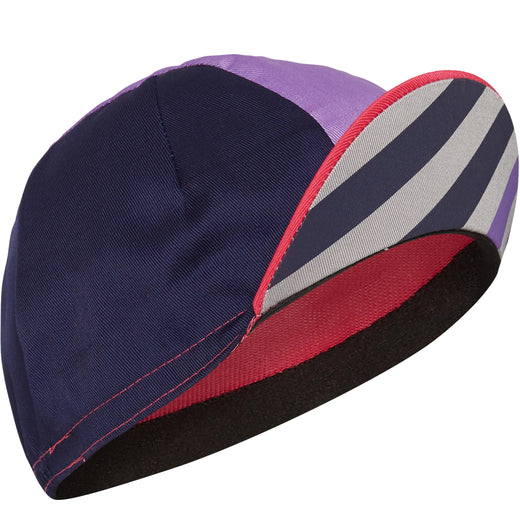 Madison Sportive poly cotton cap, block stripe pink glo / deep lavender | VeloVixen