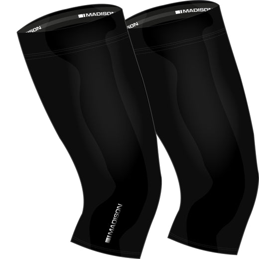 Madison Isoler Thermal knee warmers, black | VeloVixen