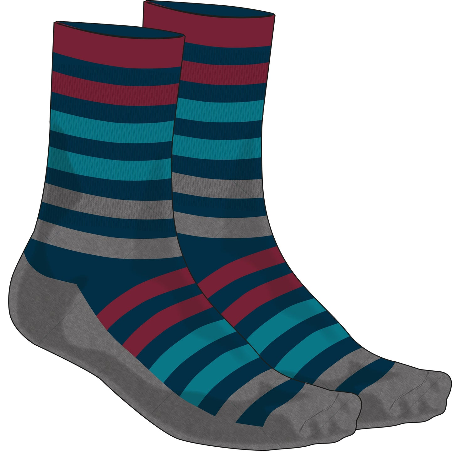 Madison Isoler Merino 3-season sock, ink navy pop | VeloVixen