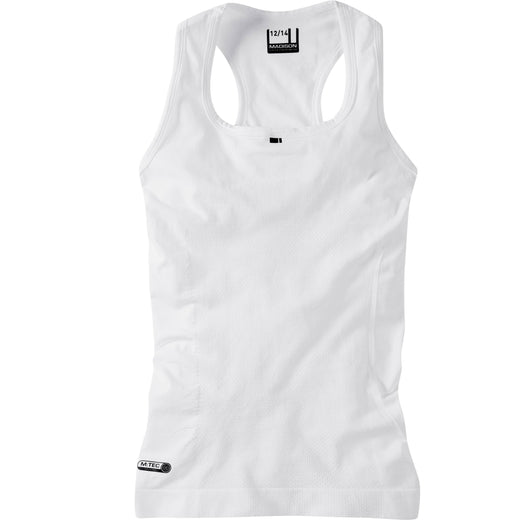 Madison Isoler Mesh Sleeveless Baselayer - White