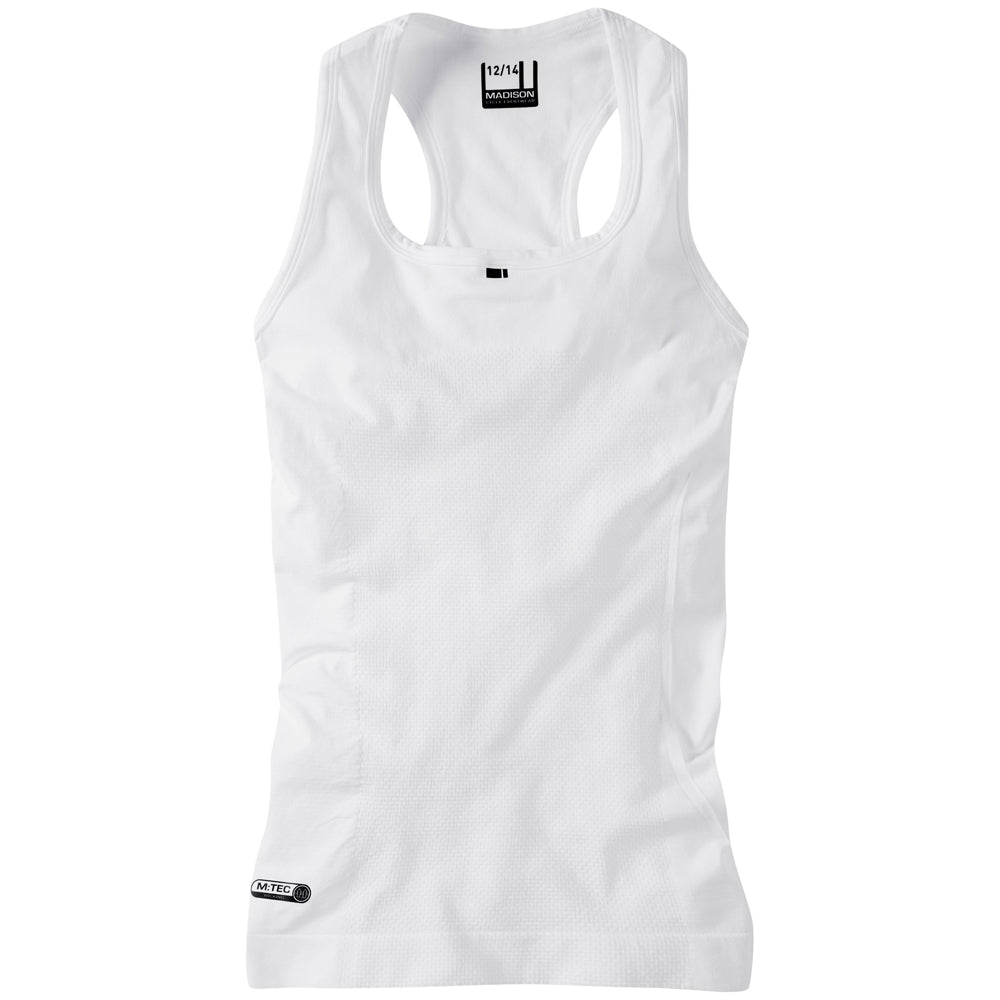 Madison Isoler mesh women's sleeveless baselayer, white | VeloVixen