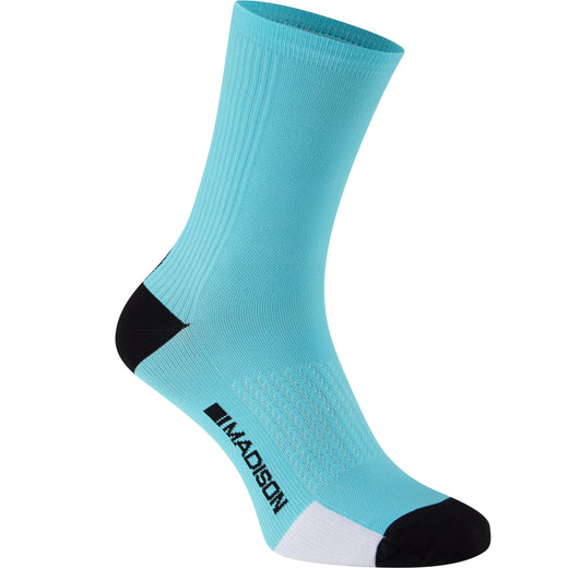 Madison RoadRace Premio extra long sock, blue curaco | VeloVixen