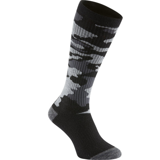 Madison Isoler Merino deep winter knee-high sock, black camo | VeloVixen