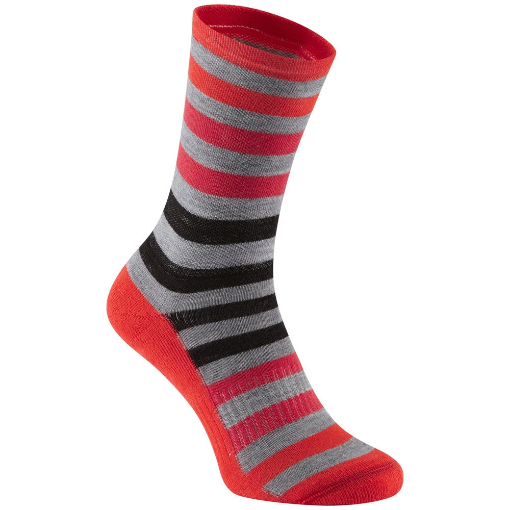 Madison Isoler Merino 3-season sock, red fade | VeloVixen
