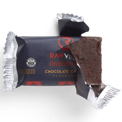 Rawvelo Organic Energy Bar - Chocolate Orange