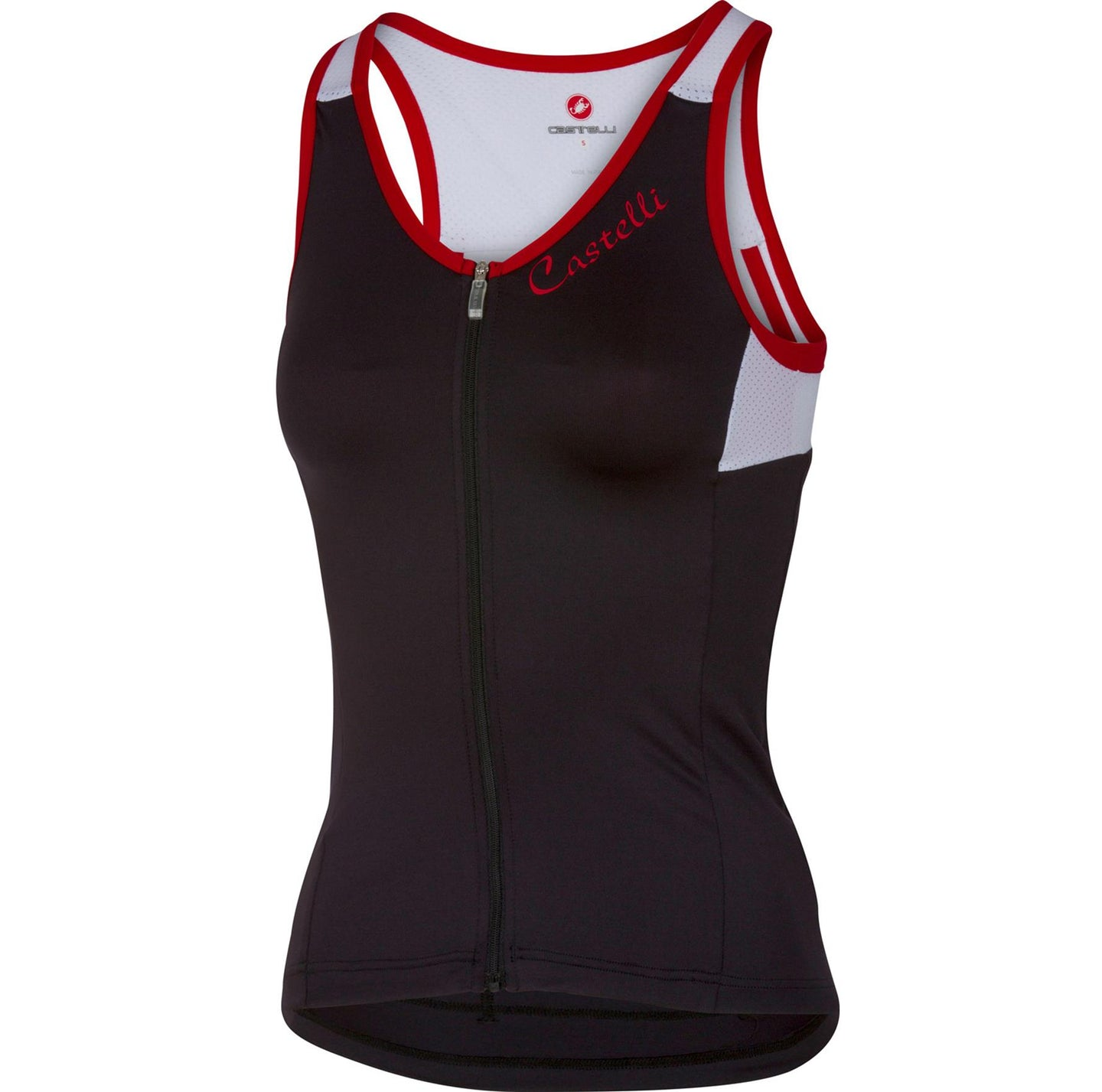 Castelli Solare Top - Black/White/Red | VeloVixen