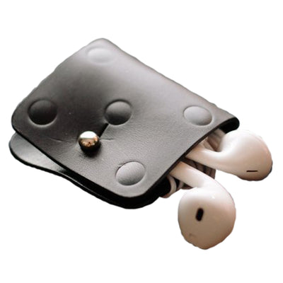 Vel-Oh Bud Polkadot Earphone Holder - Black