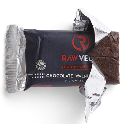 Rawvelo Organic Energy Bar - Chocolate Walnut Brownie Flavoured