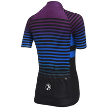 Load image into Gallery viewer, Stolen Goat short sleeve cycling jersey - descent purple blue black stripes