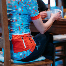 Load image into Gallery viewer, Rivelo Womens Hatchford Jersey - Blue/Orange