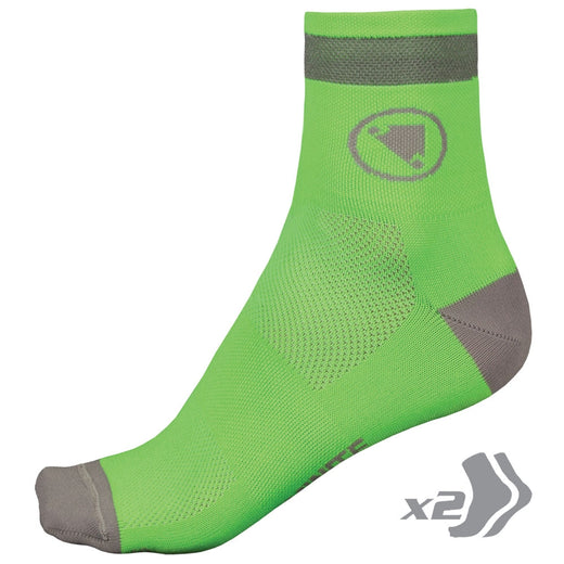 Endura Luminite Sock (Twin Pack) - Hi-Viz Green | VeloVixen