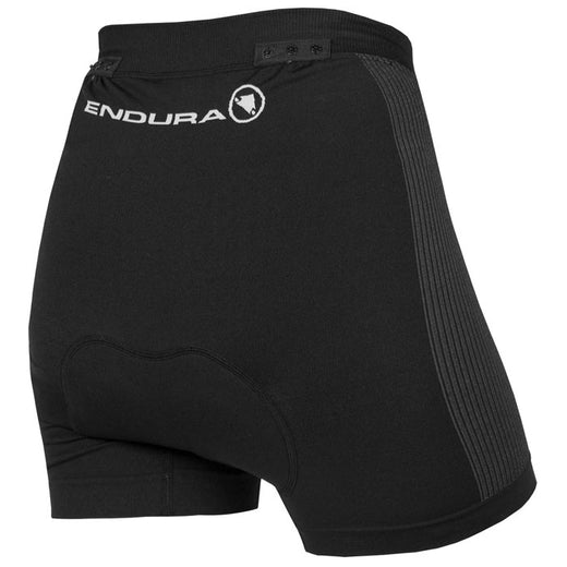 Endura padded cycling boxer short for women with poppers