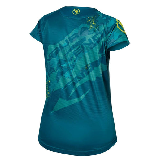 Blue MTB cycling t-shirt for women Endura