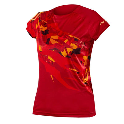 Endura Womens SingleTrack Print T - Rust Red (Limited Edition)