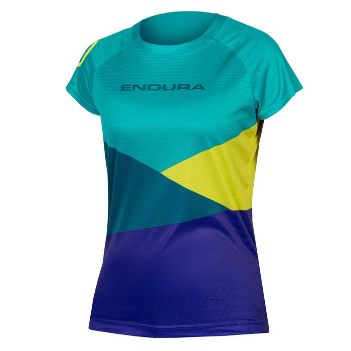 Endura Womens SingleTrack Core Print T - Kingfisher | VeloVixen