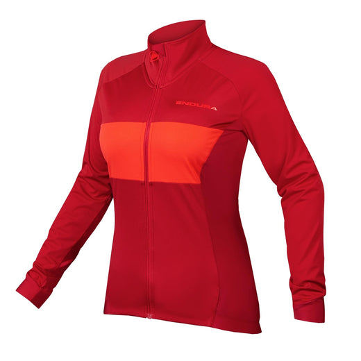 Endura FS260-Pro Jetstream Long Sleeve Jersey II - Rust Red | VeloVixen