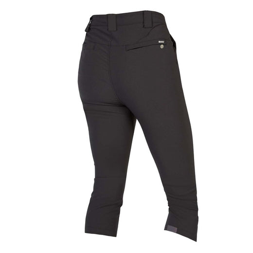 3/4 length cycling trousers for women Endura black