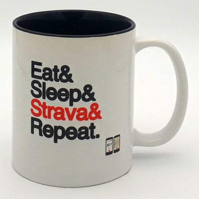 Worry Less Design Eat Sleep Strava Repeat Mug