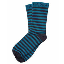 Load image into Gallery viewer, Findra Skye Merino Striped Socks - Midnight Blue/Teal | VeloVixen