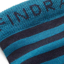 Load image into Gallery viewer, Findra Skye Merino Striped Socks - Midnight Blue/Teal
