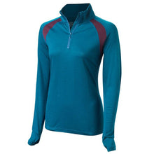 Load image into Gallery viewer, Findra Iona Zip Neck Top - Loch Blue | VeloVixen