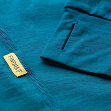 Load image into Gallery viewer, Findra Iona Zip Neck Top - Loch Blue