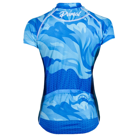 Primal Fierce Evo blue womens cycling jersey