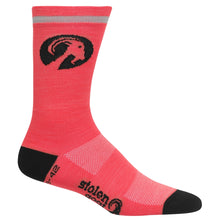 Load image into Gallery viewer, Stolen Goat Merino Socks - Fluoro Pink