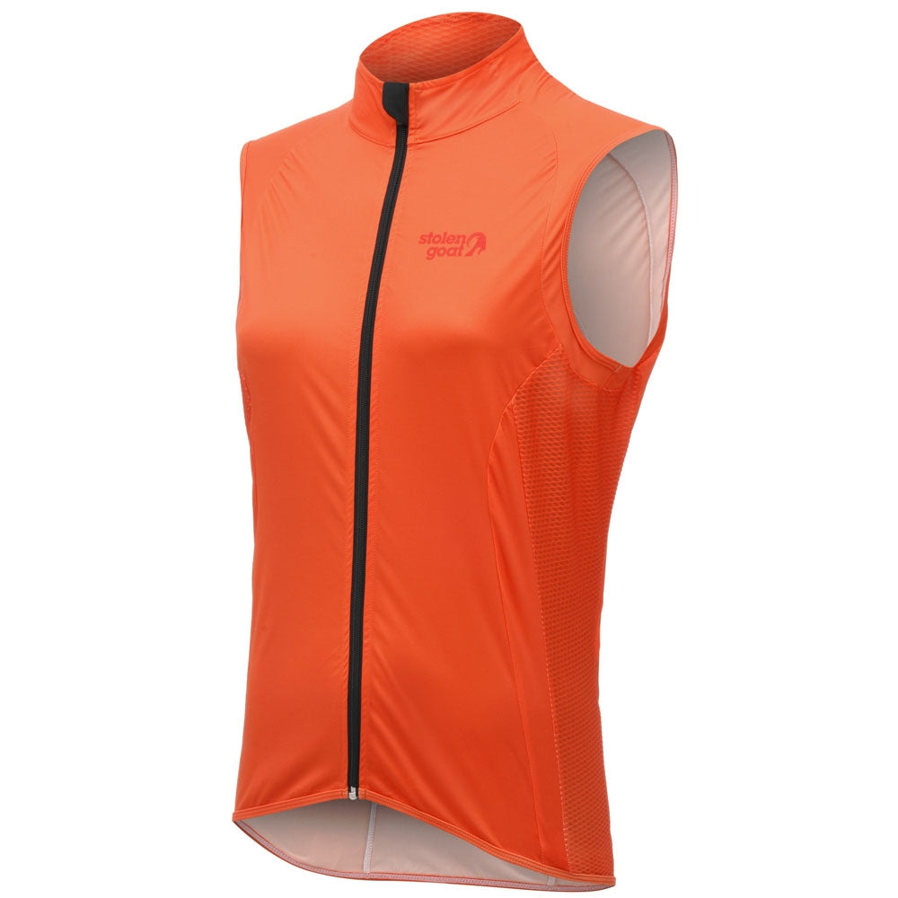 Stolen Goat Bodyline Womens Core Cycling Gilet - Orange | VeloVixen