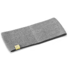 Load image into Gallery viewer, Findra Betty Merino Stripe Headband - Charcoal/Oatmeal
