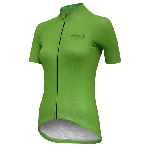 Stolen Goat Core Short Sleeve Cycling Jersey - Green | Velo Vixen