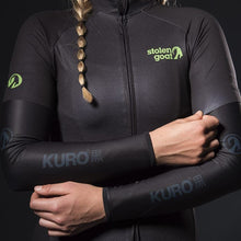Load image into Gallery viewer, Stolen Goat Orkaan Waterproof Arm Warmers  Kuro Black