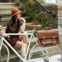 Load image into Gallery viewer, Hill & Ellis Mac Leather Cycling Bag